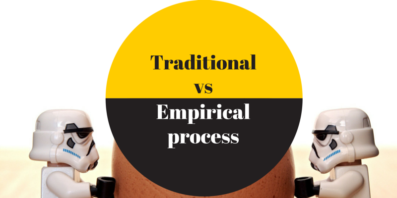Traditional vs empirical process