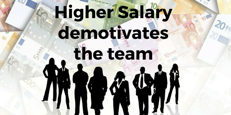 Higher salary DEMOTIVATES your team